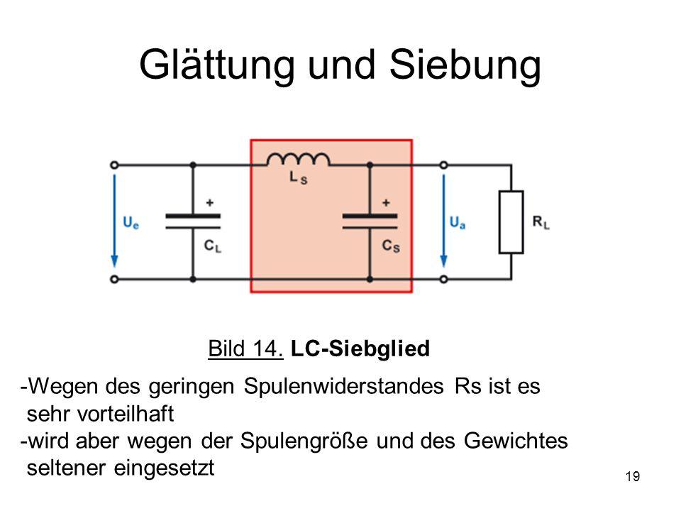 Glättung und Siebung Bild 14. LC-Siebglied
