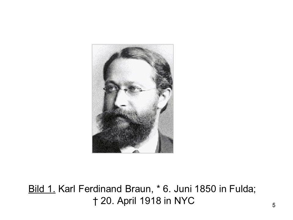 Bild 1. Karl Ferdinand Braun,. 6. Juni 1850 in Fulda; † 20