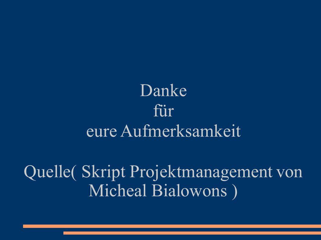 Quelle( Skript Projektmanagement von Micheal Bialowons )