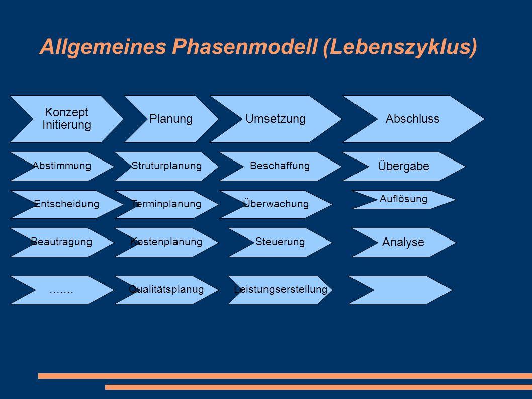 Allgemeines Phasenmodell (Lebenszyklus)