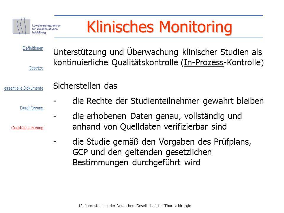 Klinisches Monitoring