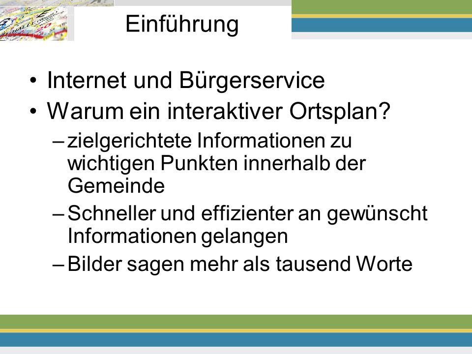 Internet und Bürgerservice Warum ein interaktiver Ortsplan