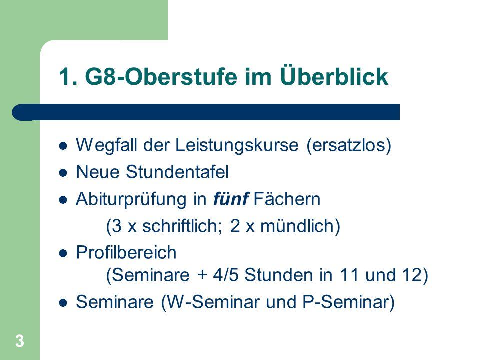 1. G8-Oberstufe im Überblick