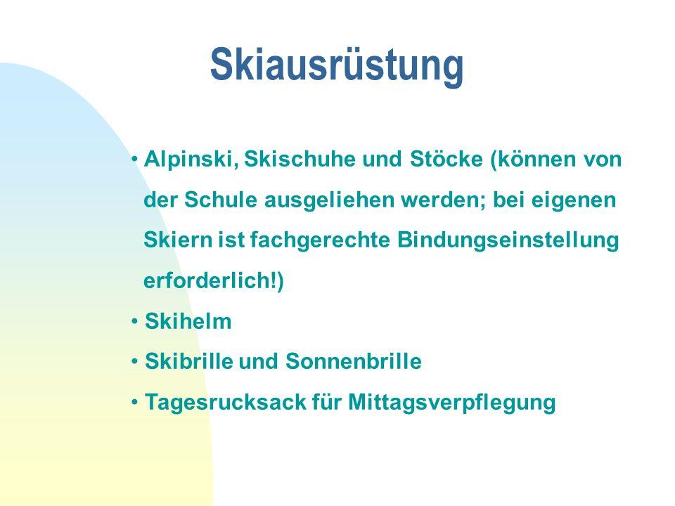 Skiausrüstung Alpinski, Skischuhe und Stöcke (können von