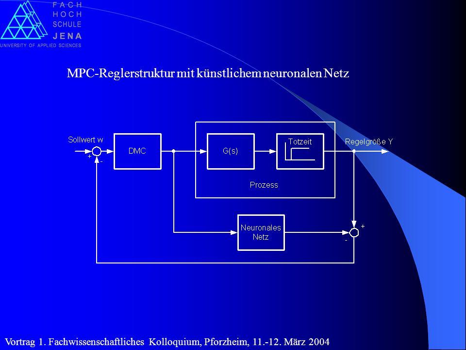 MPC-Reglerstruktur mit künstlichem neuronalen Netz