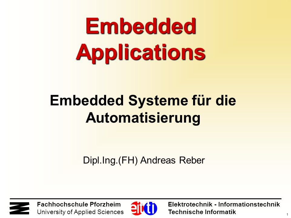 Embedded Applications