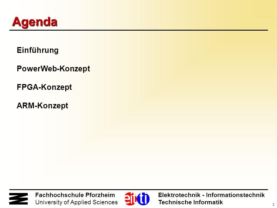 Agenda Einführung PowerWeb-Konzept FPGA-Konzept ARM-Konzept