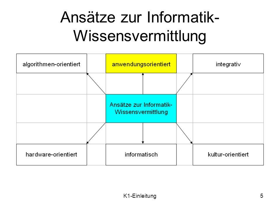 Ansätze zur Informatik-Wissensvermittlung