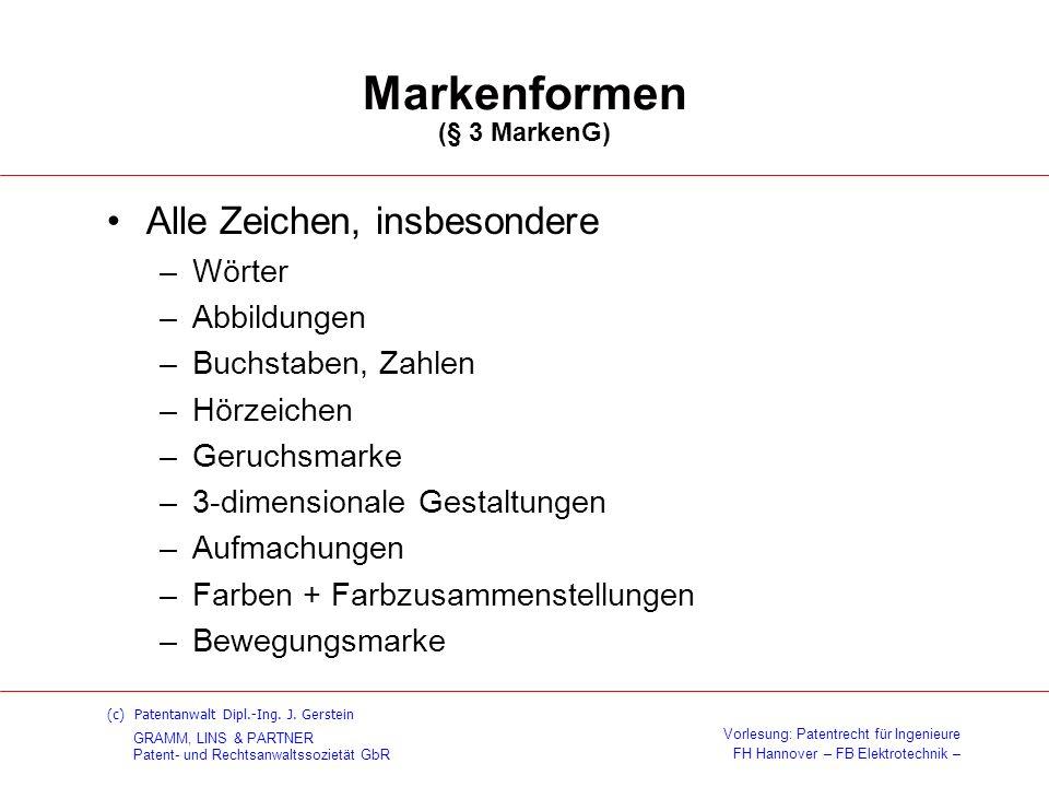 Markenformen (§ 3 MarkenG)