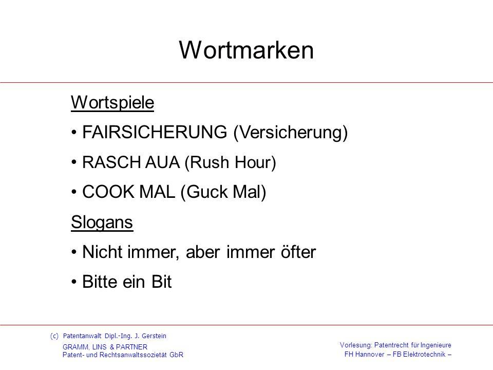 Wortmarken Wortspiele FAIRSICHERUNG (Versicherung)