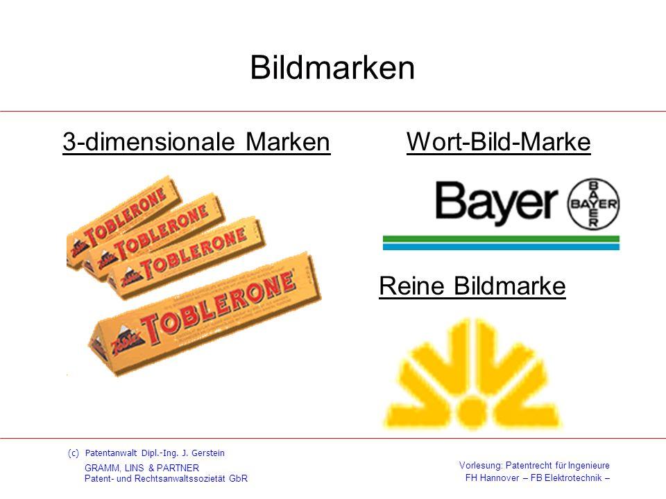 Bildmarken 3-dimensionale Marken Wort-Bild-Marke Reine Bildmarke