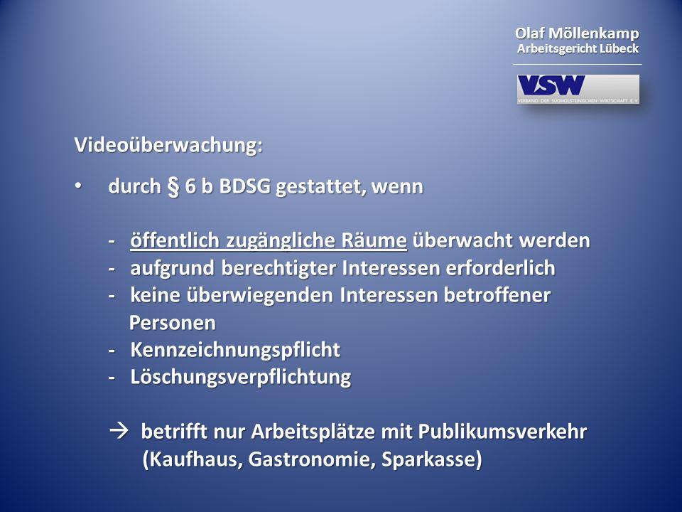Videoüberwachung: