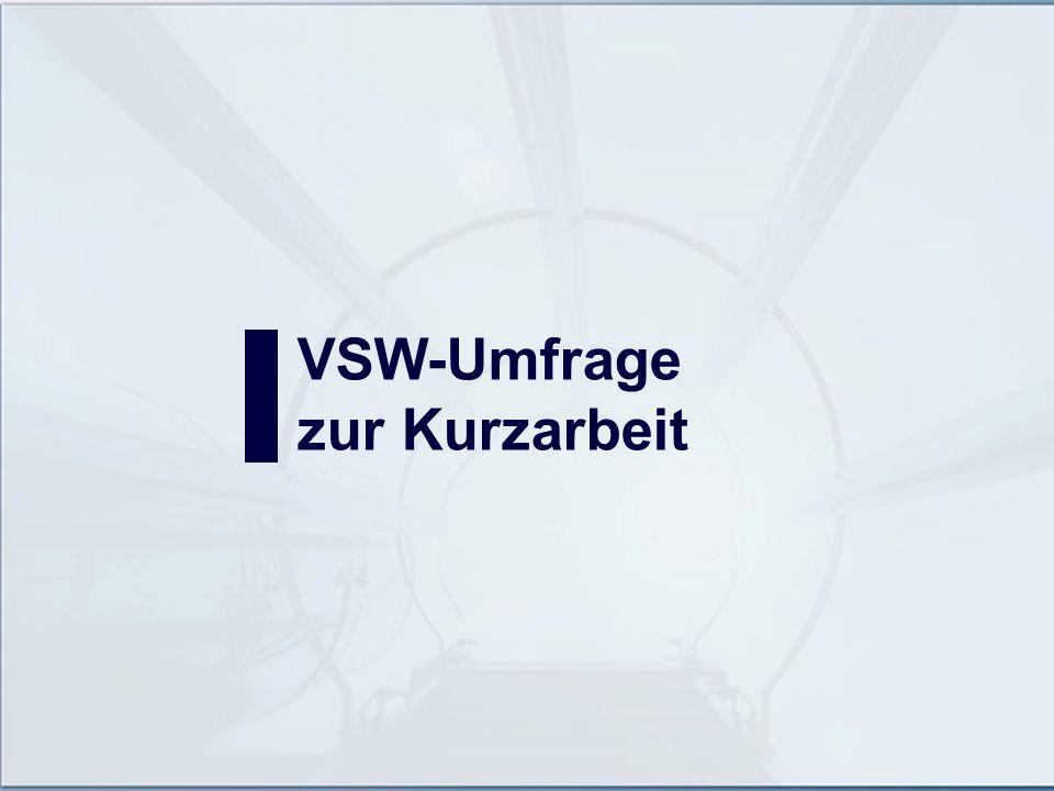 VSW-Umfrage zur Kurzarbeit