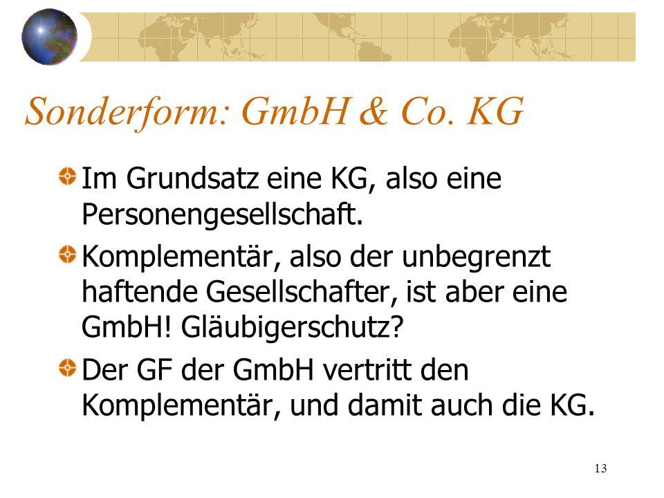 Sonderform: GmbH & Co. KG