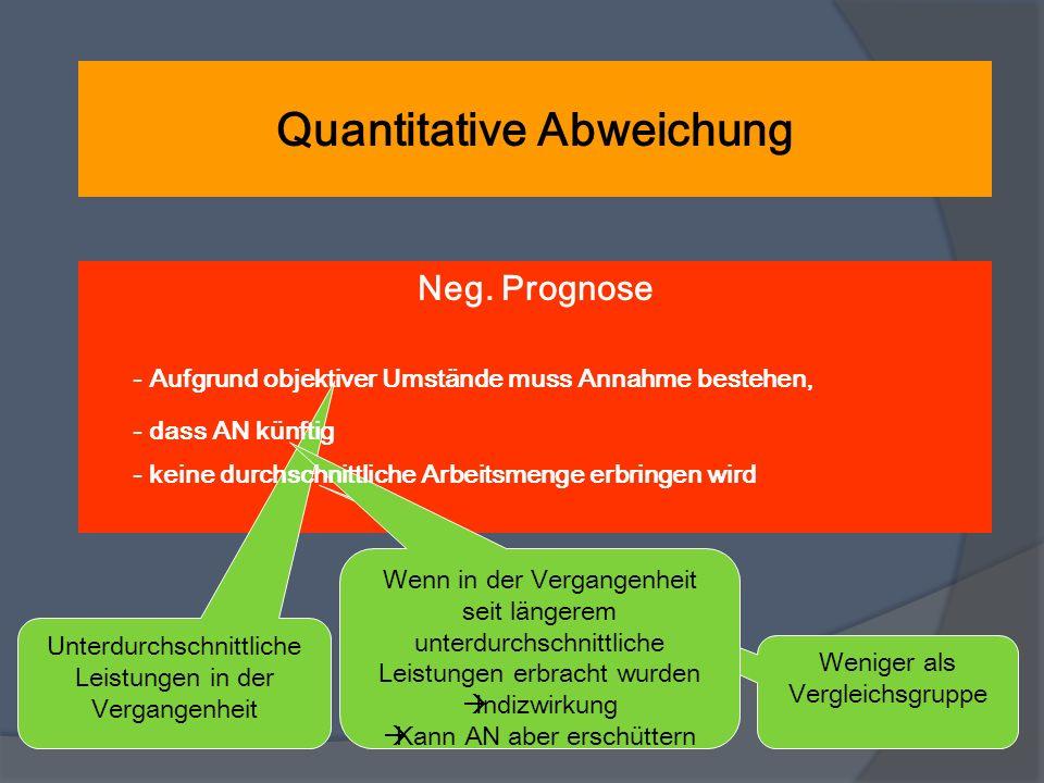 Quantitative Abweichung