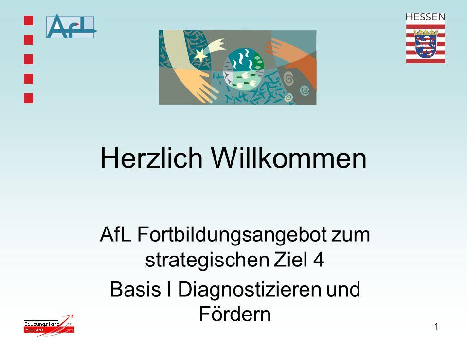 Herzlich Willkommen AfL Fortbildungsangebot zum strategischen Ziel 4