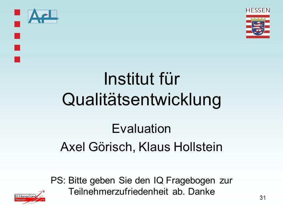 Institut für Qualitätsentwicklung