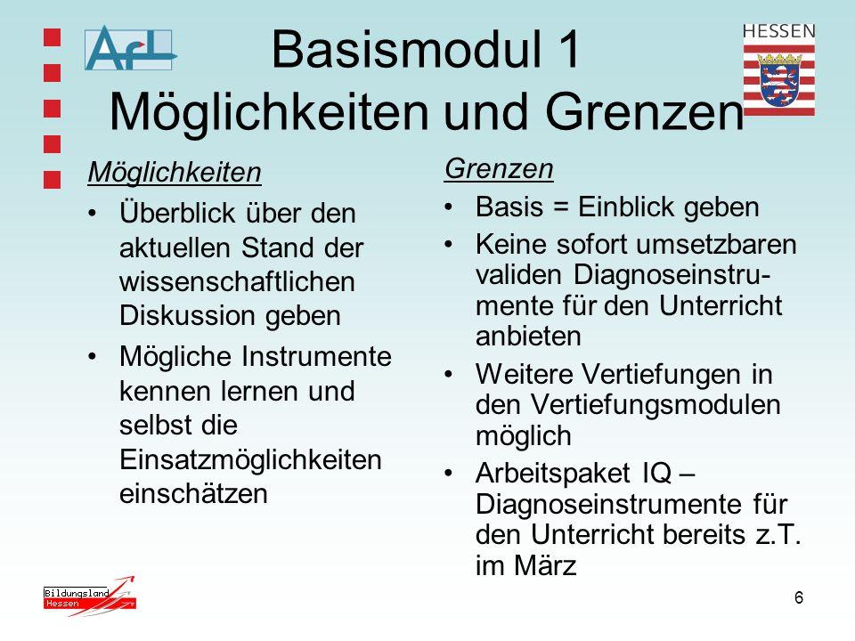 Basismodul 1 Möglichkeiten und Grenzen