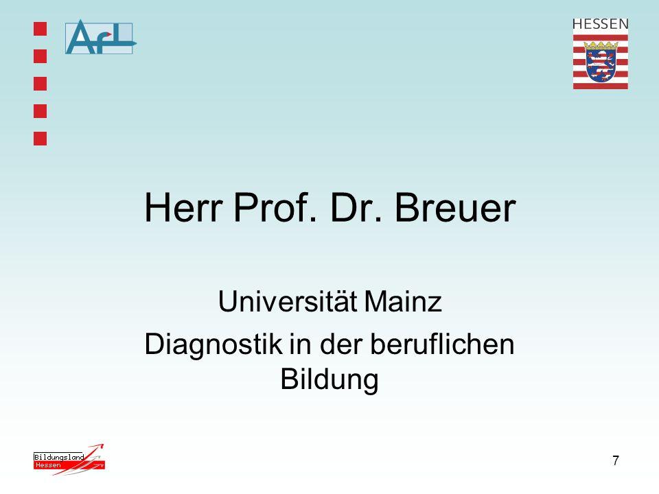 Universität Mainz Diagnostik in der beruflichen Bildung