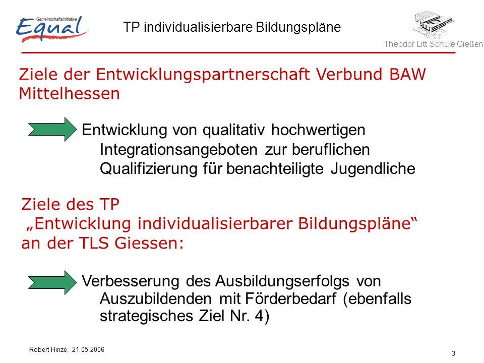 Ziele der Entwicklungspartnerschaft Verbund BAW Mittelhessen