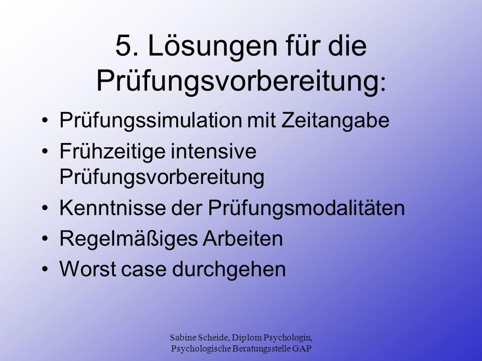 5. Lösungen für die Prüfungsvorbereitung: