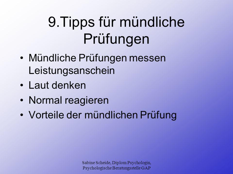 9.Tipps für mündliche Prüfungen