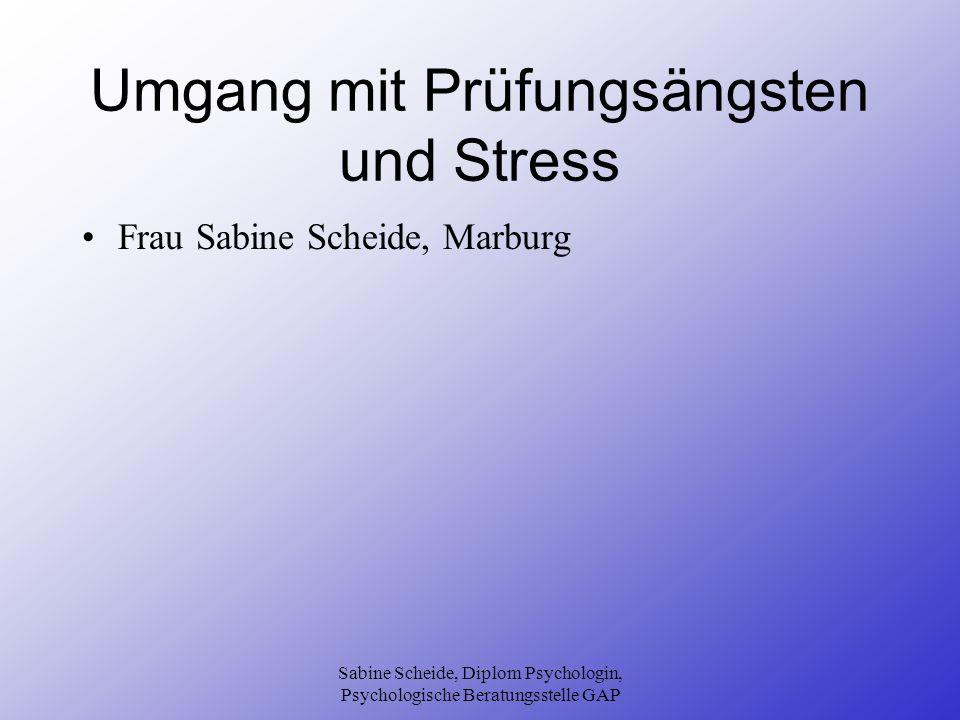 Umgang mit Prüfungsängsten und Stress