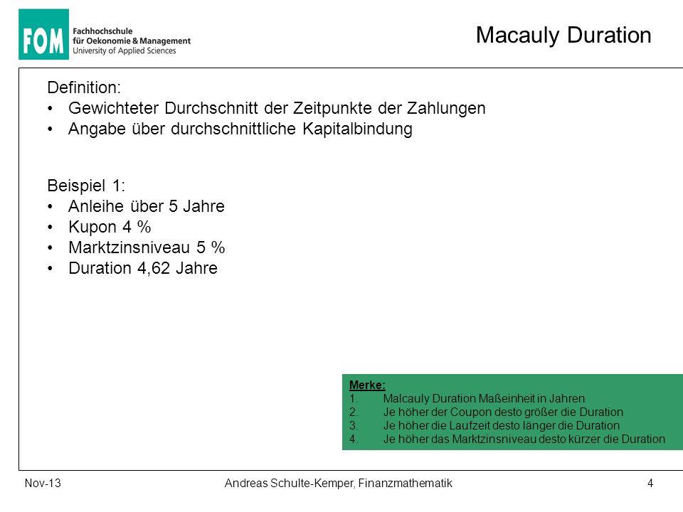 Andreas Schulte-Kemper, Finanzmathematik
