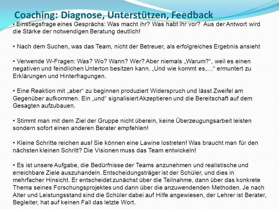Coaching: Diagnose, Unterstützen, Feedback