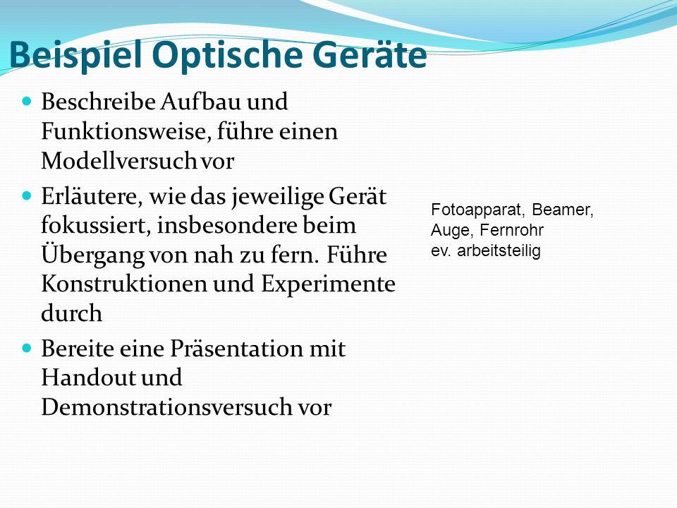 Beispiel Optische Geräte