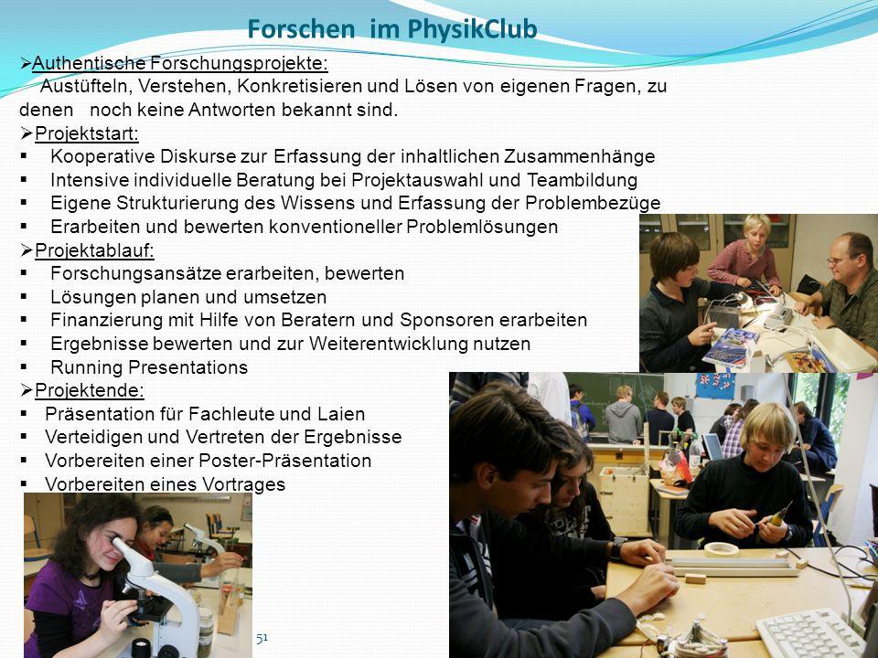 Forschen im PhysikClub