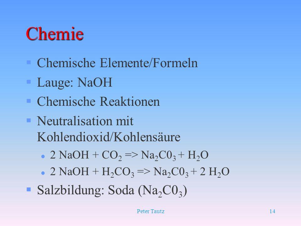 Chemie Chemische Elemente/Formeln Lauge: NaOH Chemische Reaktionen