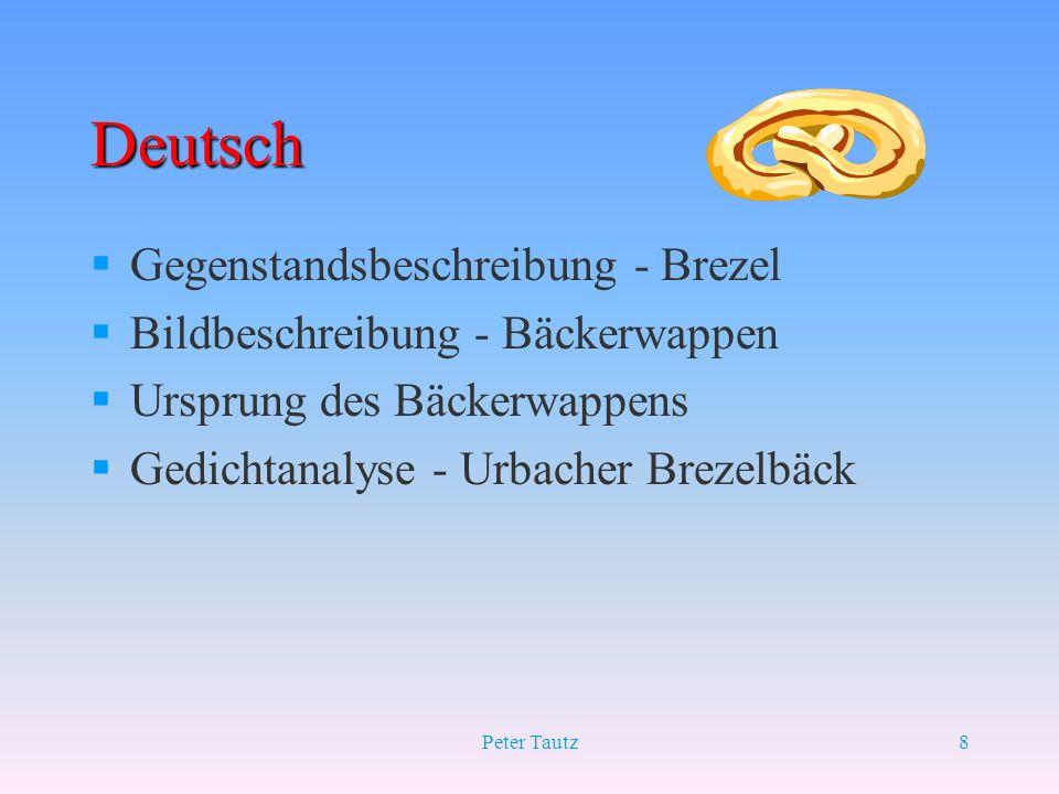 Deutsch Gegenstandsbeschreibung - Brezel