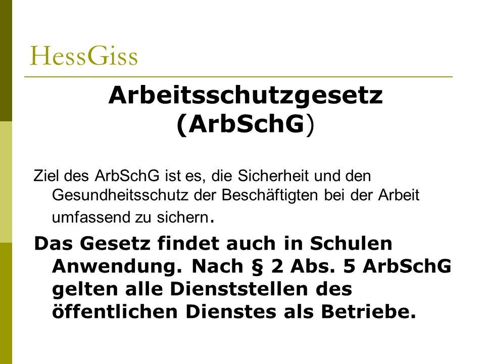 Arbeitsschutzgesetz (ArbSchG)