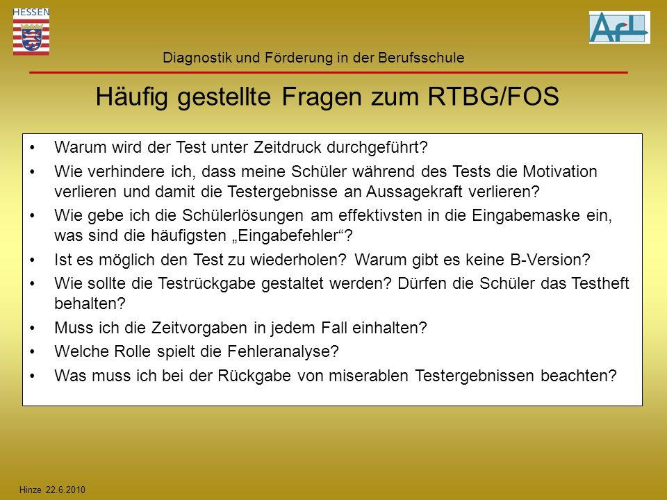 Häufig gestellte Fragen zum RTBG/FOS