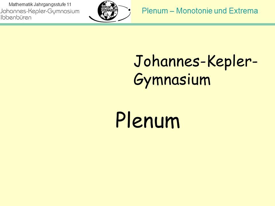 Plenum Johannes-Kepler- Gymnasium Hinweis für den Lehrer: