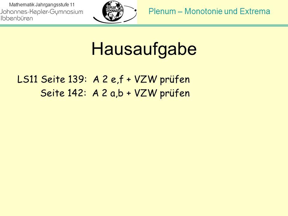 Hausaufgabe LS11 Seite 139: A 2 e,f + VZW prüfen