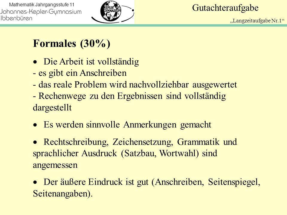 """""""Langzeitaufgabe Nr.1 Formales (30%)"""
