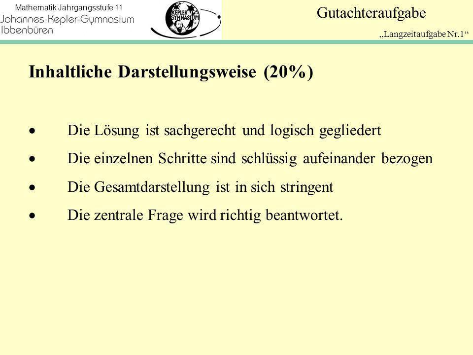 Inhaltliche Darstellungsweise (20%)