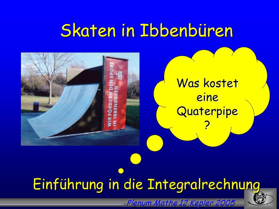 Skaten in Ibbenbüren Einführung in die Integralrechnung
