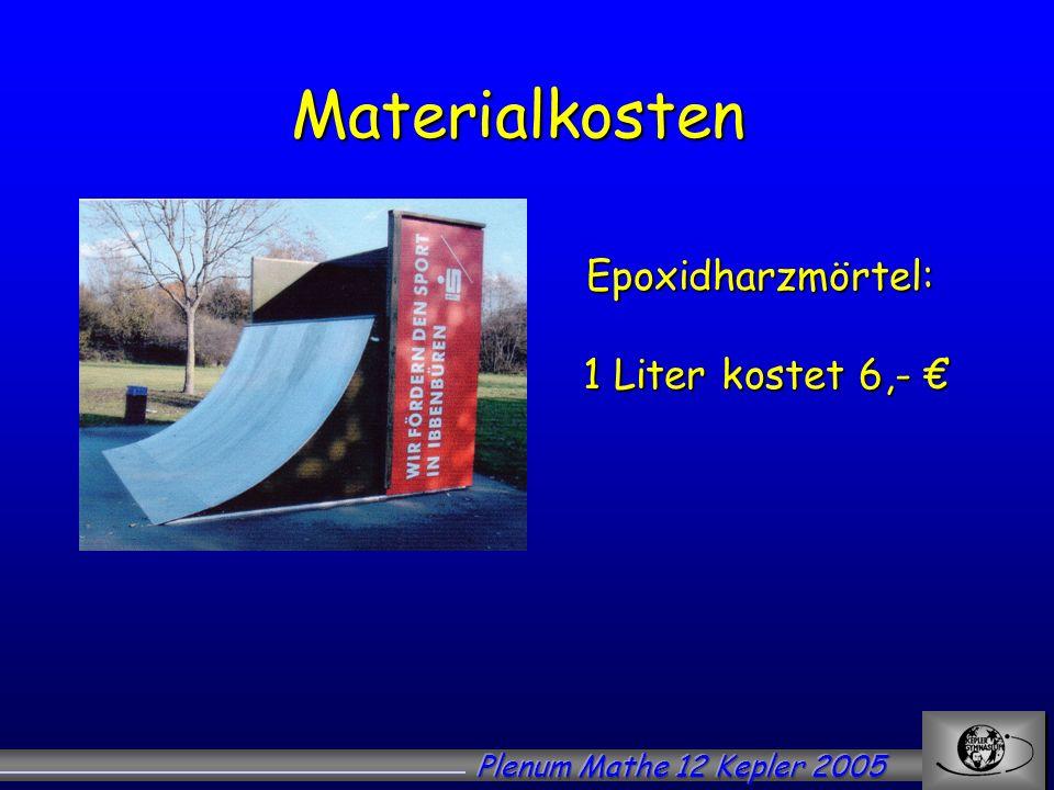 Epoxidharzmörtel: 1 Liter kostet 6,- €
