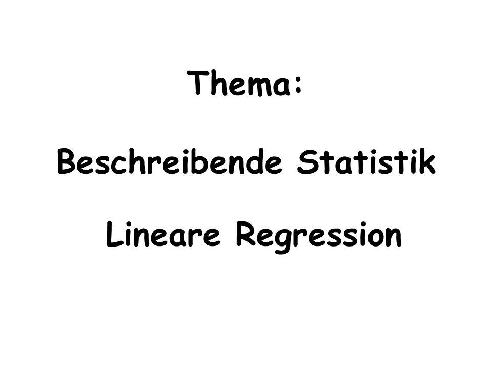 Thema: Beschreibende Statistik