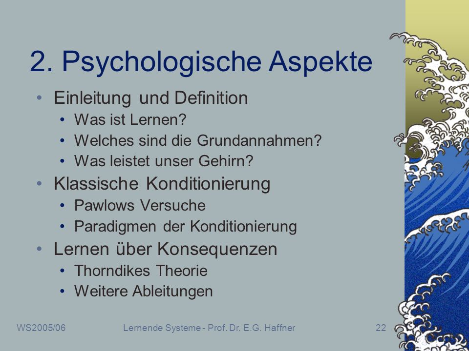 2. Psychologische Aspekte