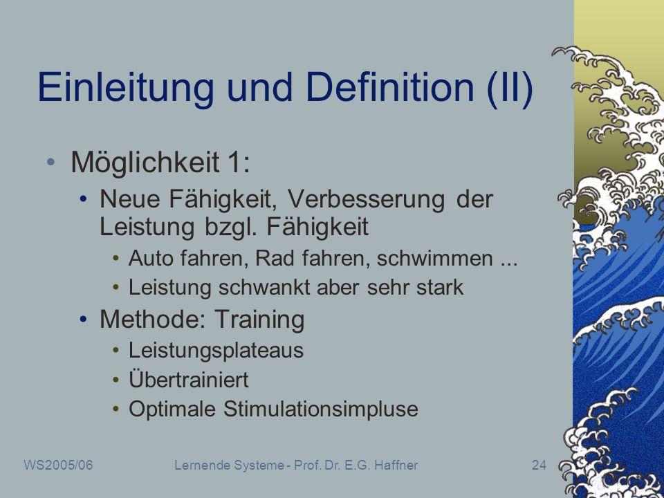 Einleitung und Definition (II)
