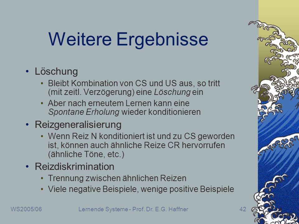 Lernende Systeme - Prof. Dr. E.G. Haffner