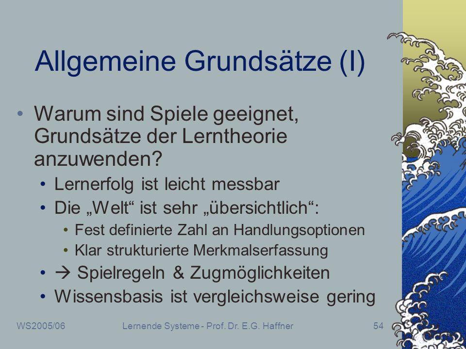 Allgemeine Grundsätze (I)