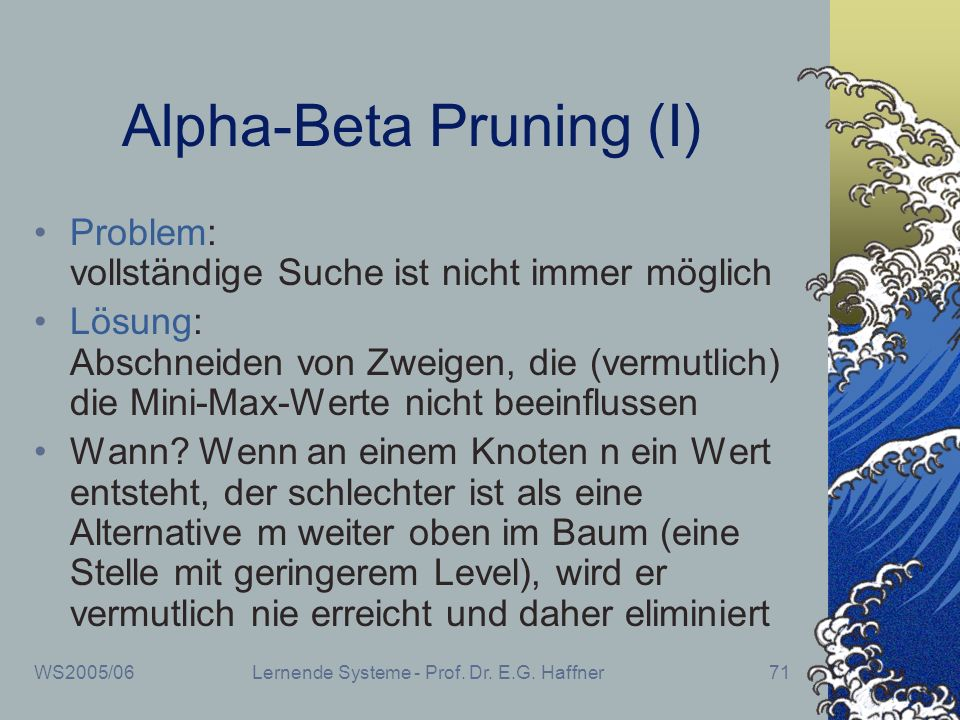 Alpha-Beta Pruning (I)
