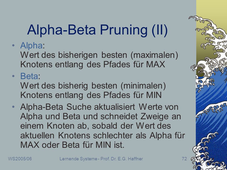 Alpha-Beta Pruning (II)