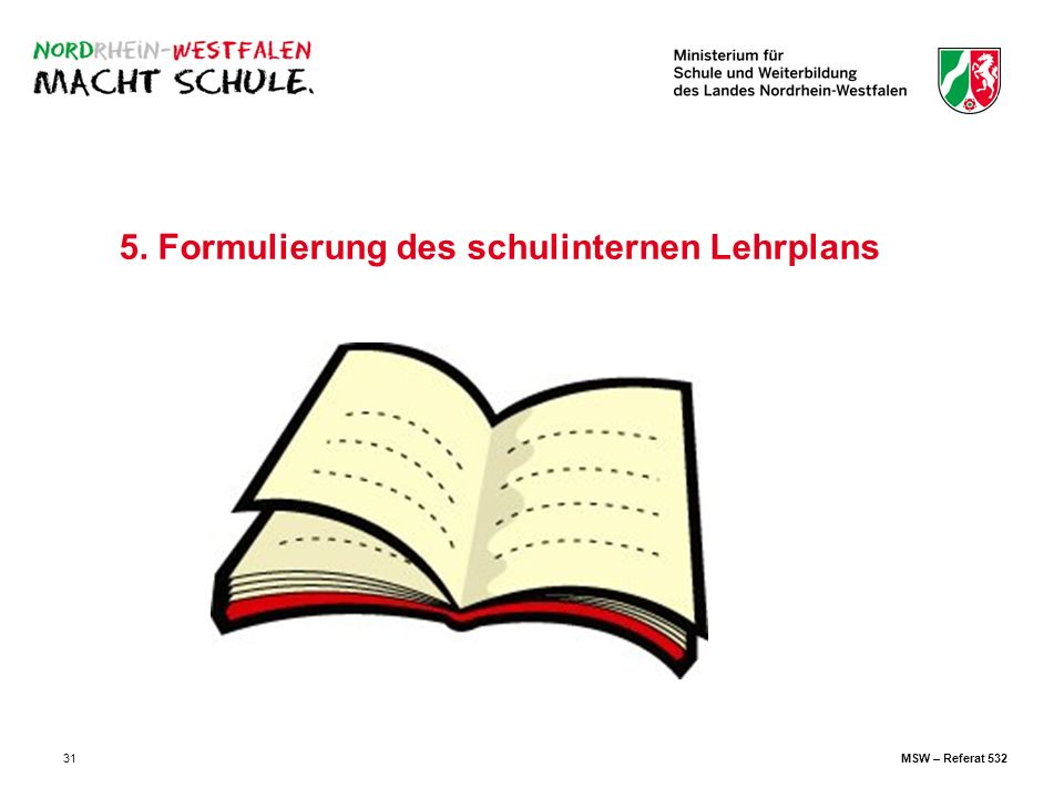 5. Formulierung des schulinternen Lehrplans