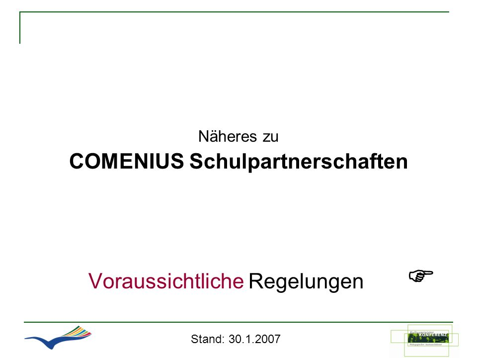 COMENIUS Schulpartnerschaften